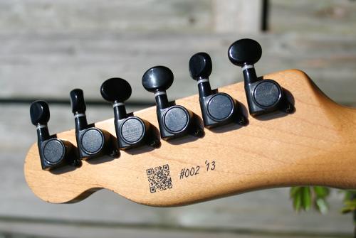 Alle gitaren zijn d.m.v. QR-code geregistreerd